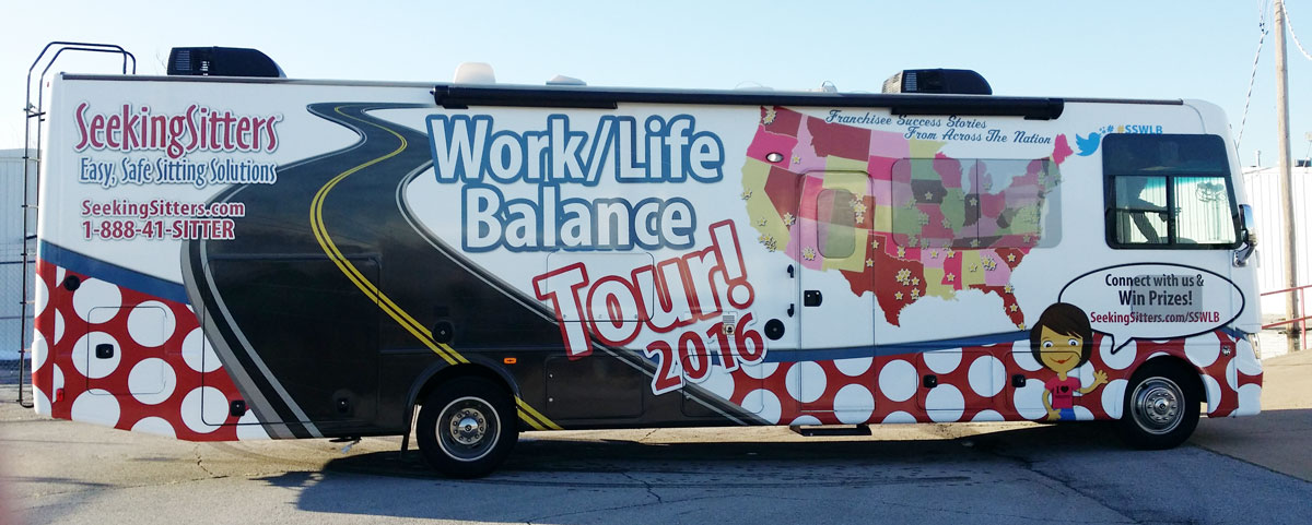 Seeking Sitters Work Life Balance Tour Tulsa Billboard